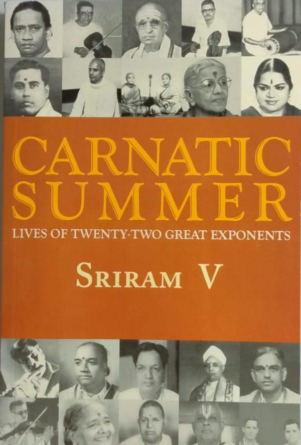 Carnatic summer book Front Side